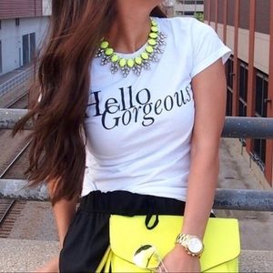 Neon Glam Statement Necklace